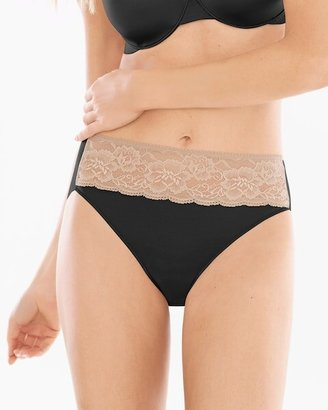 Soma Intimates Microfiber with Lace High Leg