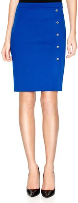 The Limited Button Detail Ponte Pencil Skirt