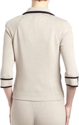 St. John Notch-Collar Contrast-Trim Jacket
