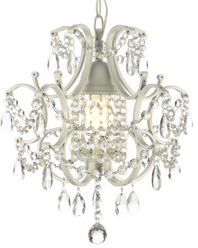 Bed Bath & Beyond Wrought Iron and Crystal 1-Light Chandelier