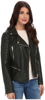 Blank NYC Vegan Leather Moto Jacket in Frankenstorm