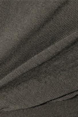 Rick Owens LILIES draped cotton-jersey dress