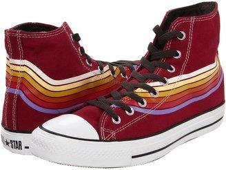 Converse Chuck Taylor All Star Retro Strip Print Hi (Cranberry/Multi) - Footwear