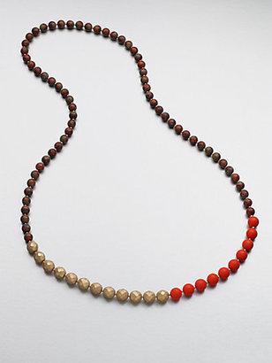 Florian Tri-Tone Beaded Necklace