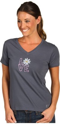 Life is Good Daisy Love Crusher Vee (True Blue) - Apparel