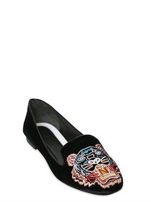 Kenzo 10mm Velvet Tiger Loafers