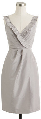J.Crew Petite elyse dress in silk taffeta