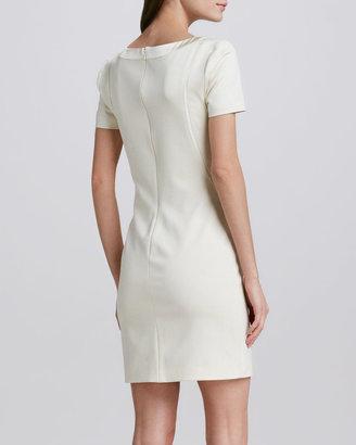 Halston Scoop-Neck Ponte Dress