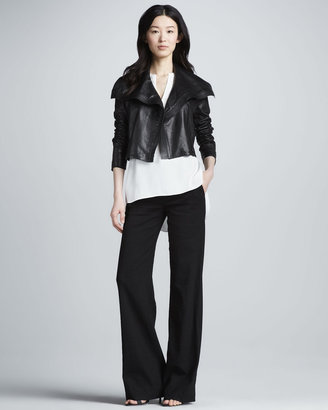 Vince Cropped Asymmetric Jacket