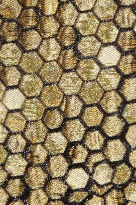 Alexander McQueen Honeycomb-jacquard pencil skirt