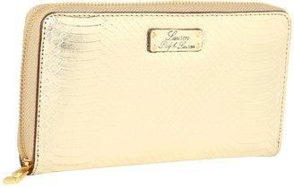 Lauren Ralph Lauren Banbury Snake Zip Around Wallet (Gold) - Bags and Luggage