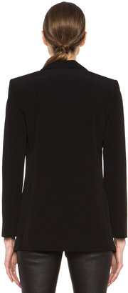 Alexander Wang Viscose Crepe Blazer in Black