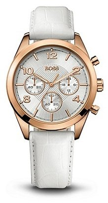 HUGO BOSS 1502310 Chronograph White Croc-Embossed Leather Watch - Assorted Pre-Pack