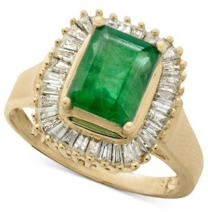 Effy Gemma by Emerald (1-3/8 ct. t.w.) and Diamond (1/2 ct. t.w.) Ring in 14k Yellow Gold