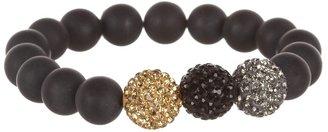 The Cool People Dee Berkley for Crystal Ball Bracelet (Black) - Jewelry