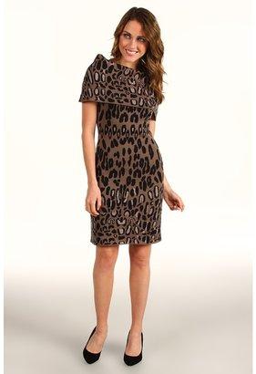 Jessica Simpson Cowl Neck Animal Dress (Falcon) - Apparel