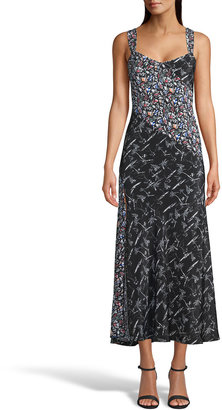 Robert Graham Andrea Mixed-Print Silk-Blend Dress