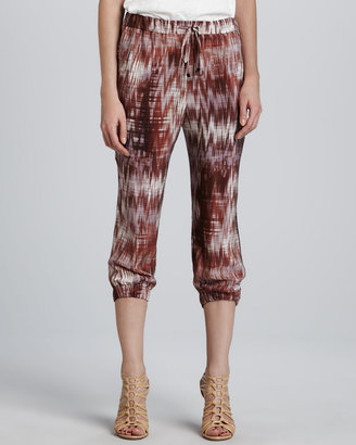 Elizabeth and James Ruben Cropped Print Pants