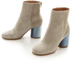 Maison Martin Margiela Suede & Python Leather Booties
