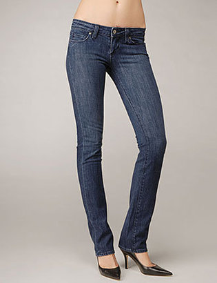 Paige Womens Blue Heights Skinny Las Flores