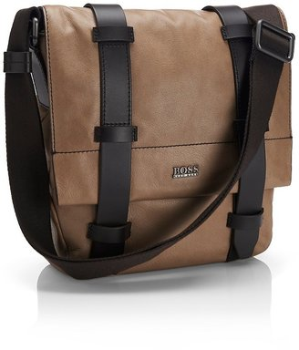 HUGO BOSS 'Ritit' | Leather Reporter Bag by BOSS