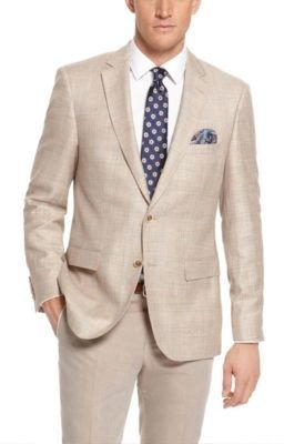 HUGO BOSS 'T-Lord' - Regular Fit, Italian Wool-Linen Tailored Sport Coat