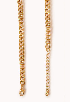Forever 21 Cutout Geo Bib Necklace