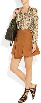 Kain Label Jo silk and linen-blend mini skirt