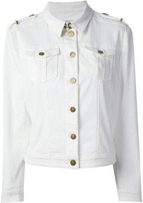 Burberry fitted power-stretch denim jacket