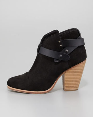Rag and Bone Rag & Bone Harrow Nubuck Ankle Boot, Black