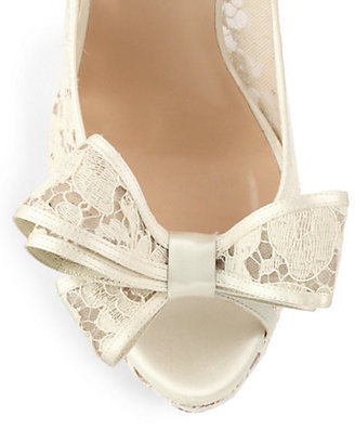 Valentino Couture Bow Lace Pumps