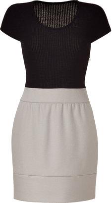 Paule Ka Black and Chalk Combo Dress