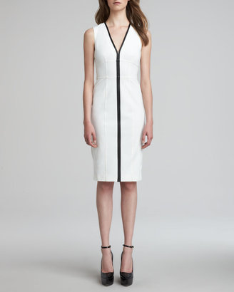 Burberry Corset Contrast Piping Dress