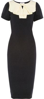 Moschino Silk-crepe bow-embellished wool dress