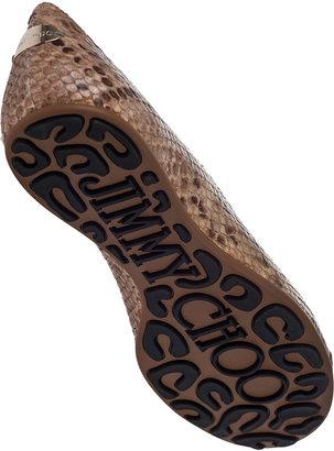 Jimmy Choo Whirl Ballet Flat Natural Snake