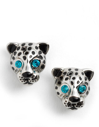Juicy Couture Leopard Stud Earrings