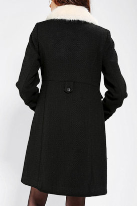 Urban Outfitters Cooperative Femme Faux Fur Collar Coat