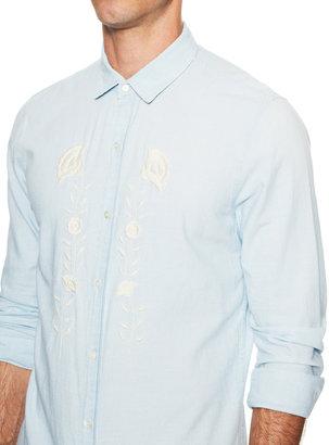 Sandro Embroidered Flower Sportshirt