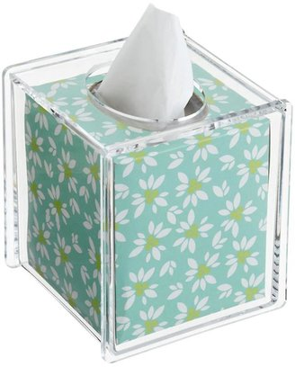 Container Store Hinged-Lid Boutique Tissue Box Clear