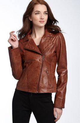 KORS MICHAEL Michael Studded Leather Motorcycle Jacket