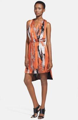 Robert Rodriguez Brushstroke Silk Dress