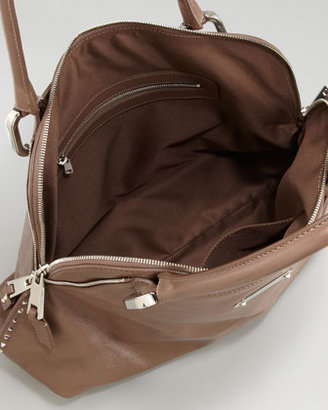 Marc Jacobs Rio Shiny Leather Satchel Bag, Brown