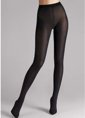 3f91f6803ad Wolford Black Cotton Blend Velvet Tights