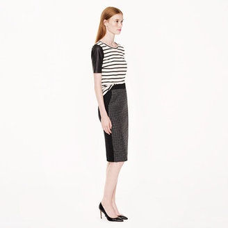 J.Crew No. 2 pencil skirt in colorblock houndstooth wool