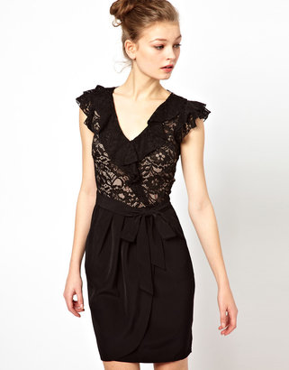 A/Wear A Wear Lace Wrap Dress