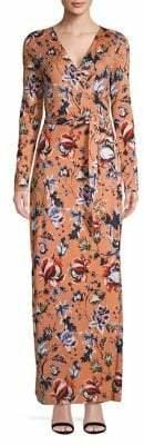 Diane von Furstenberg Long Sleeve Floral Print Dress