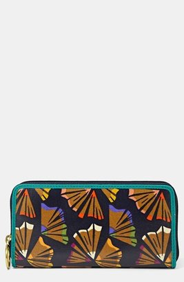 Fossil 'Key-Per' Coated Canvas Clutch Wallet