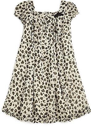 Burberry Little Girl's Silk Leopard Print Dress