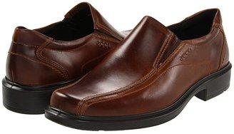 Ecco Helsinki Slip On (Black Santiago Full-Grain Leather) Men's Slip-on Dress Shoes