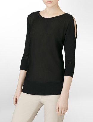 Calvin Klein Lightweight Split Shoulder Sweater